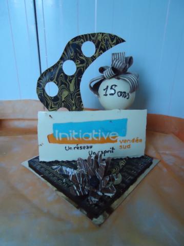 décoration de table 15 ans de Initiative Vendée sud