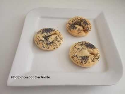 blinis foie gras graines de pavot