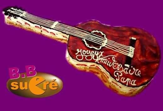 une guitare fraisier