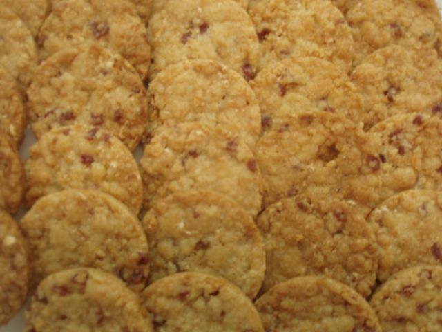 Biscuits nougat framboise